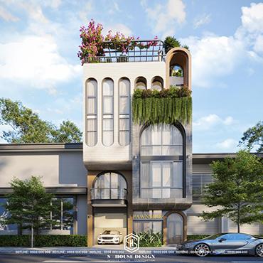 Thiết kế kiến trúc nhà phố anh Khánh - Yersin Nha Trang