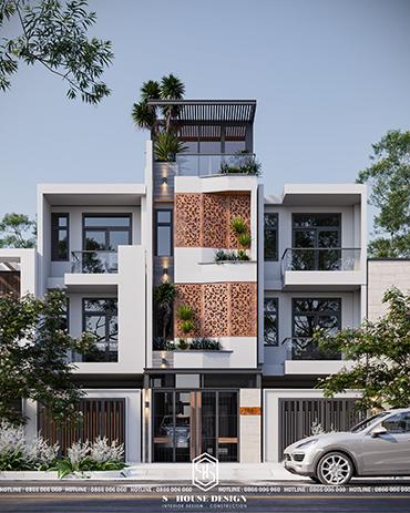 Thiết kế kiến trúc nhà phố 3 tầng đơn giản