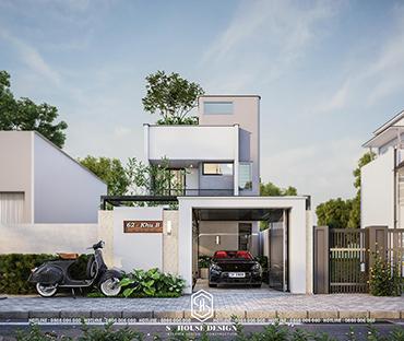 Thiết kế kiến trúc nhà phố chị Kim Anh