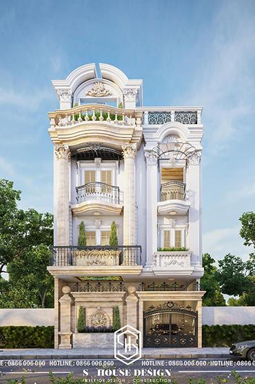 Thiết kế kiến trúc nhà phố Anh Dũng