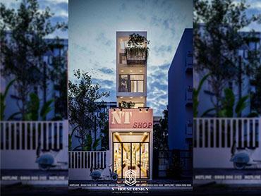Thiết kế kiến trúc nhà phố kinh doanh