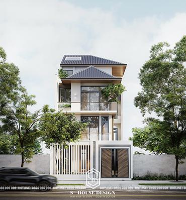 Thiết kế nhà phố mái thái hiện đại