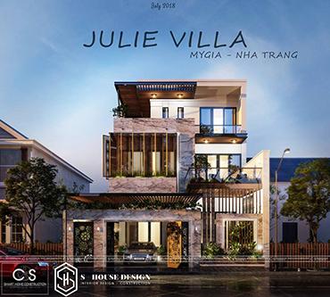 Thiết kế kiến trúc biệt thự chị Linh