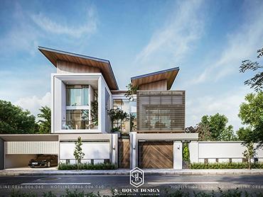 Thiết kế kiến trúc biệt thự Nam Đàn - Nghệ An