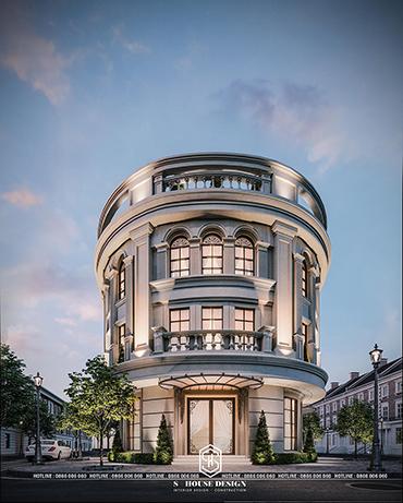 Thiết kế kiến trúc nhà phố tân cổ anh Bửu
